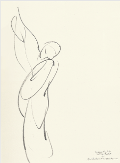 Drawing by Stanley Roseman of Yoshiaki Nagahata, Tokyo Ballet at the Paris Opera, 1993, Private collection, Switzerland.